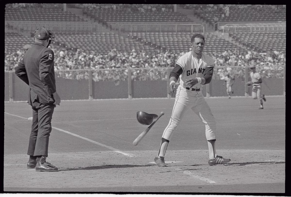 Willie Mays Slinging The Baseball Bat
