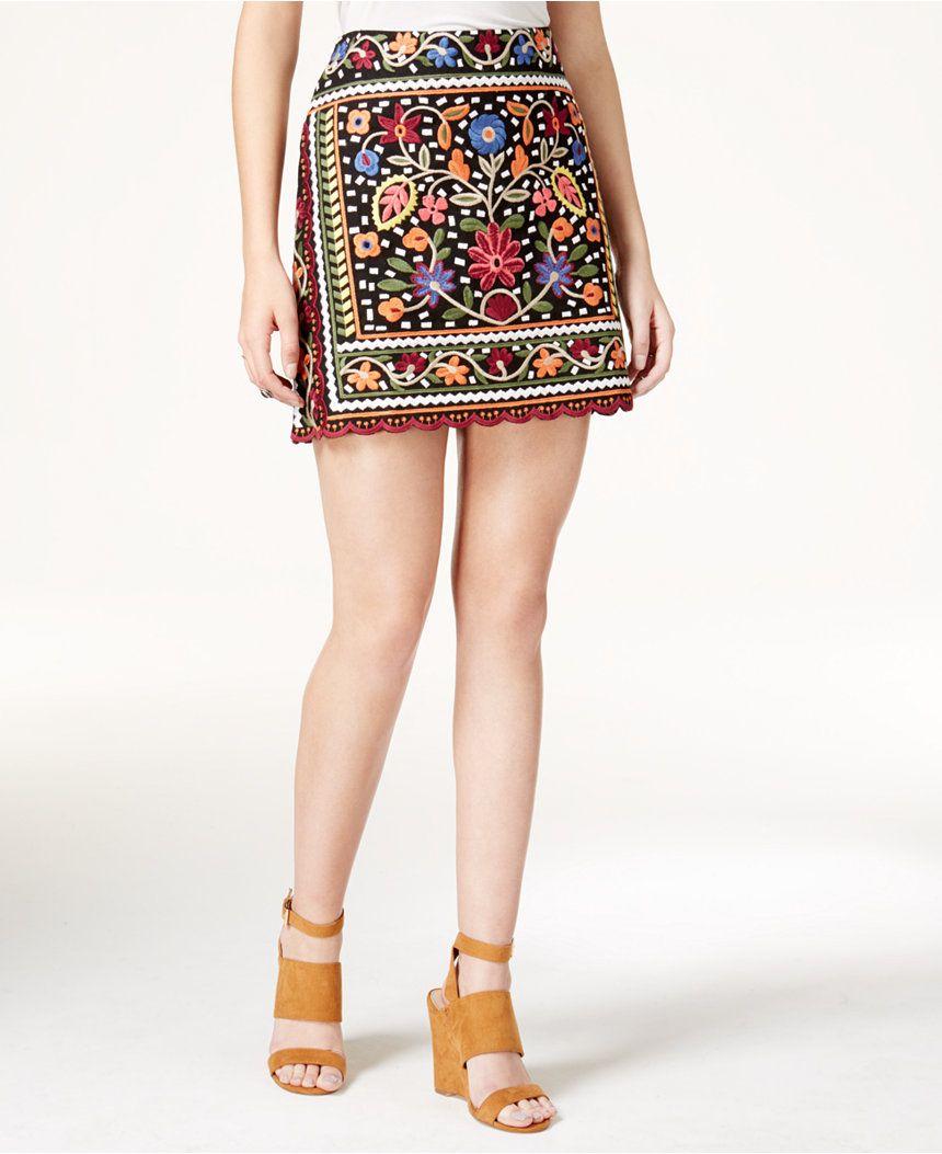 Fair Child Embroidered Mini Skirt, $129