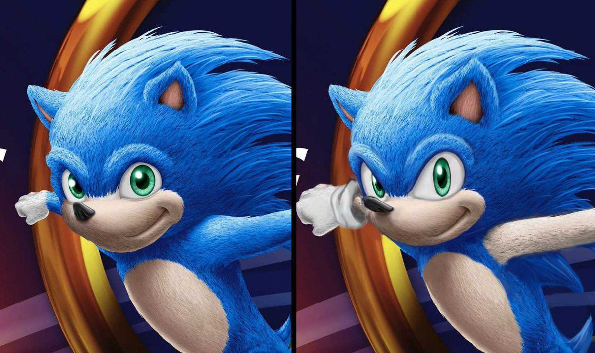 Sonic The Hedgehog S Live Action Movie Look Redesigned Polygon