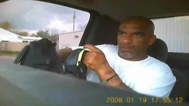 Eric Harris during a police sting that caught him illegally selling firearms, moments before a reserve deputy shot and killed him.