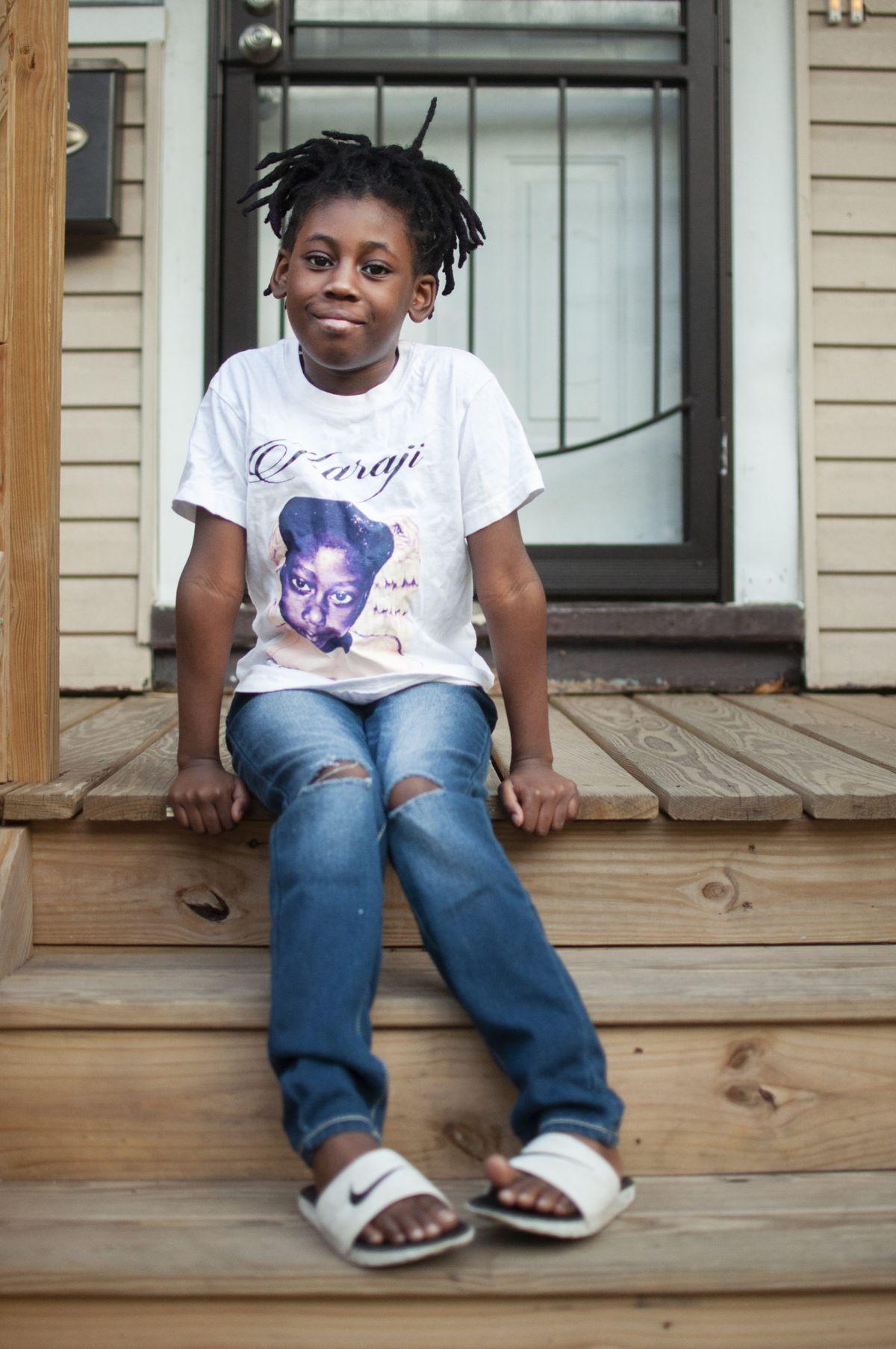 Amayi Jones, Karaji's twin, will turn nine next month.