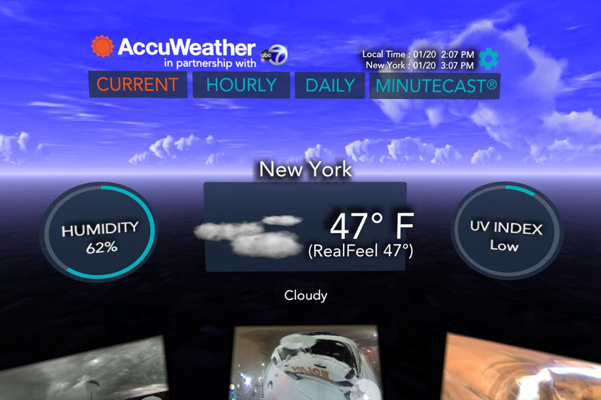 AccuWeather's VR app is like dystopian design fiction - The Verge