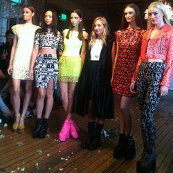 AGAIN designer Amber Kekich-Purling (center)