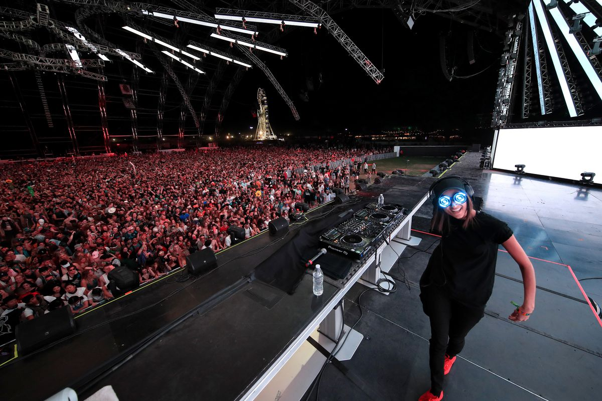 REZZ performs onstage during the 2018 Coachella Valley Music And Arts Festival in Indio, California.