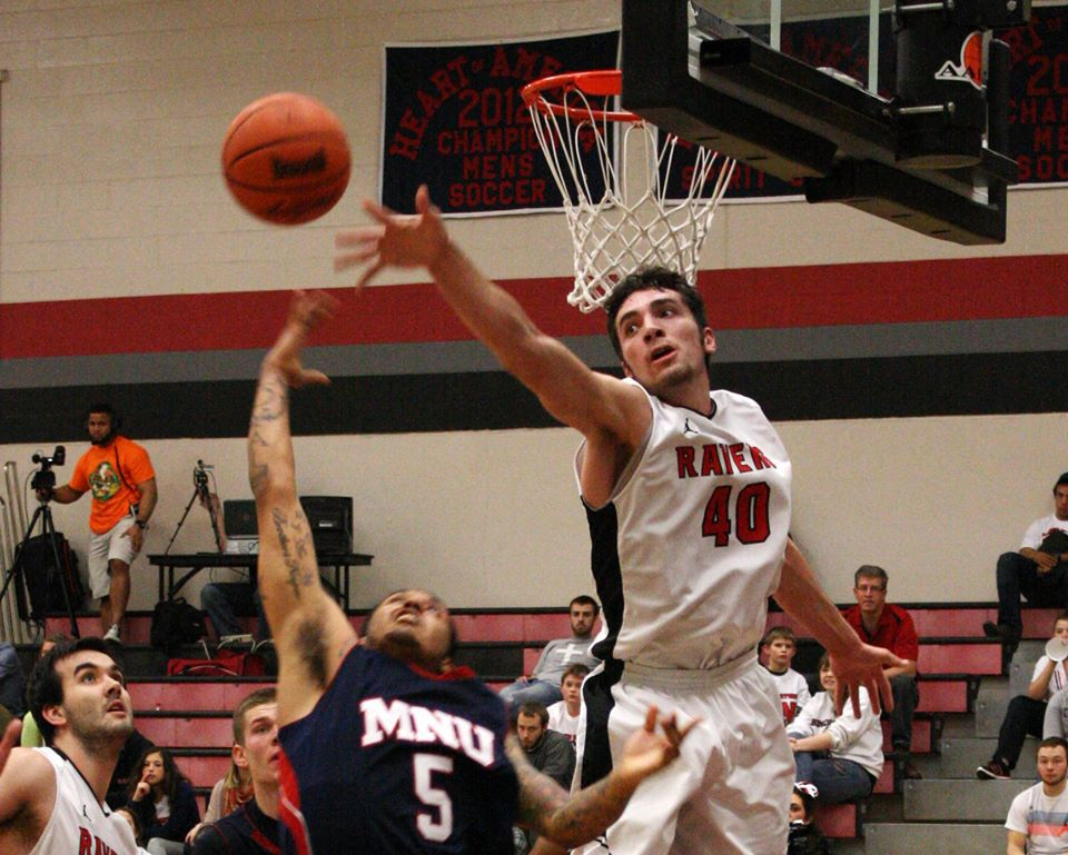 Jallen Messersmith, right, led his conference in blocked shots last season.