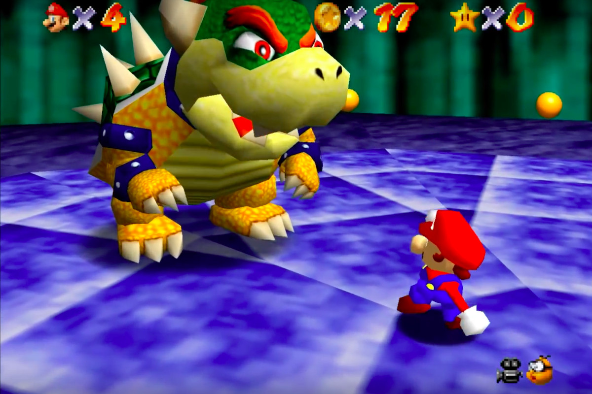 Super Mario 64 player beats Bowser level without using