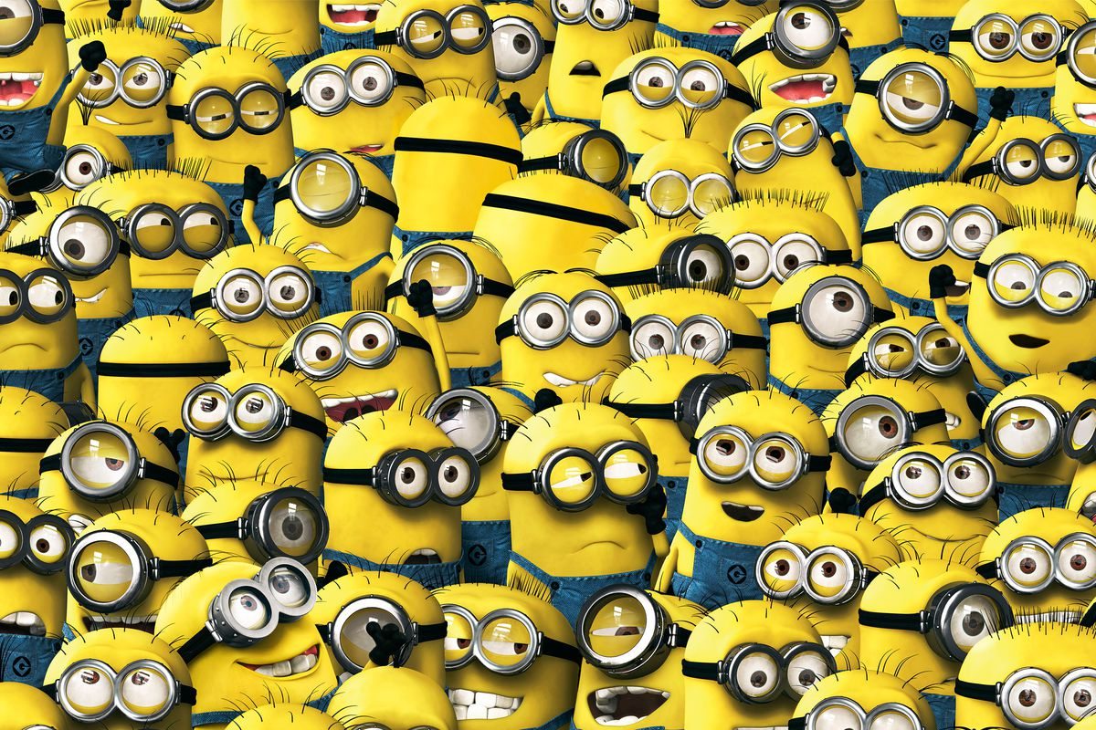 a bunch of minions all over the screen