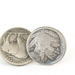 """<b>For the dad who has everything:</b> He has everything, eh? Does he have these locally-made <a href=""""http://www.waltzingmatildausa.com/collections/lost-and-found/products/buffalo-nickel-cuff-link"""">Buffalo Nickel Cuff Links</a> ($176) from Wayne's Waltzi"""