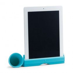 """Give your parents (who gifted themselves an iPad last year and learned how to open iTunes on it last week) this <b>C. Wonder</b> Bullhorn iPad Speaker in turquoise, <a href=""""http://www.cwonder.com/gift-guide/boutiques/tech-accessories/bullhorn-speaker-1.h"""