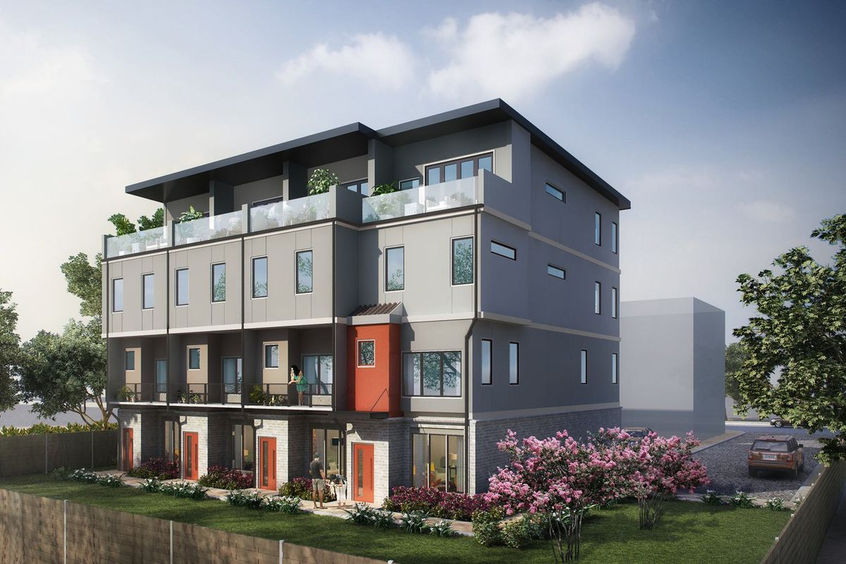 Four new townhomes in the Old Fourth Ward section of Atlanta.