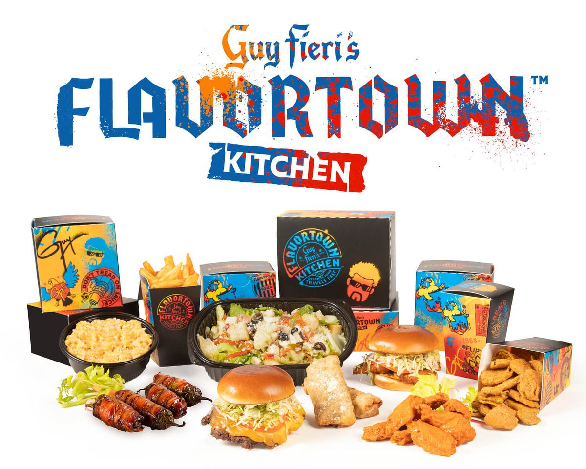 The array of dishes from Guy FIeri's Flavortown Kitchen