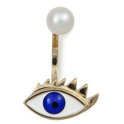 "Delfina Deletrez eye piercing earring, <a href=""http://newyork.doverstreetmarket.com/dsmpaper/jewelry/delfina_delettrez.html"">$520</a> at Dover Street Market"