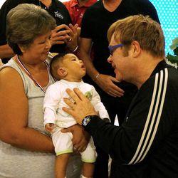 Elton John in Malaysia.