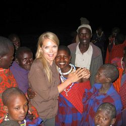 """""""Global Mom"""" author Melissa Dalton-Bradford is pictured in Africa."""