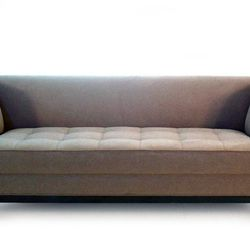 """<b>The Bestseller:</b> The <b>Ramses sofa collection</b> is Vastu's most popular due to its slim footprint and its sleek contemporary design. A compact 32"""" frame depth, low profile back, and grid-tufted seat add to the tailored appearance of this sofa. """"T"""