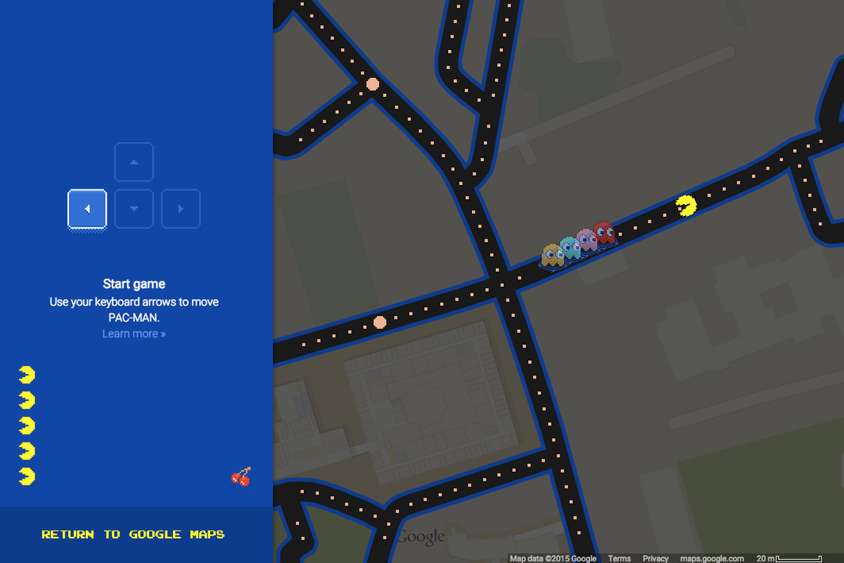Maps 2015.Google Maps Now Lets You Turn Any Location Into A Game Of Pac Man