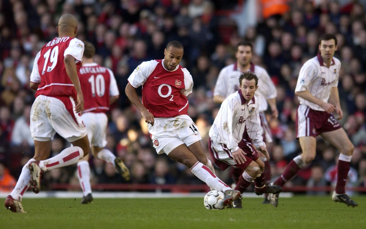 Thierry Henry of Arsenal in action