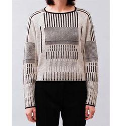 "<b>Christian Wijnants</b> Kuno Sweater in black/white, <a href=""http://shop.creaturesofcomfort.us/christian-wijnants-kuno-sweater-black-white.aspx#"">$246</a> at Creatures of Comfort"