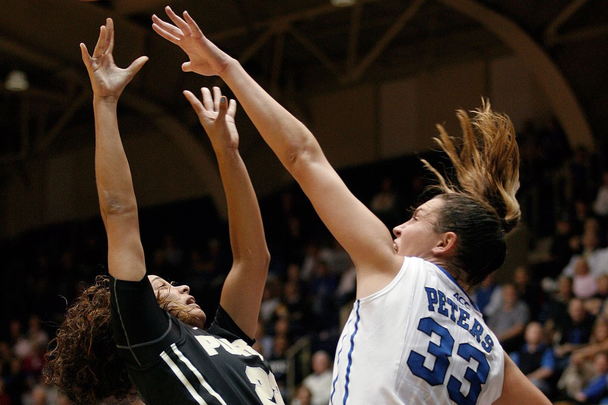 Haley Peters returned to the court against Purdue after missing four games with an injured knee.