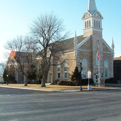 A photo of the Manti Tabernacle.