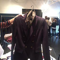 A blazer with a dickey under