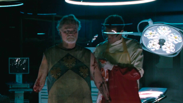Medievalworld soldier in Delos lab in Westworld season 3 episode 2