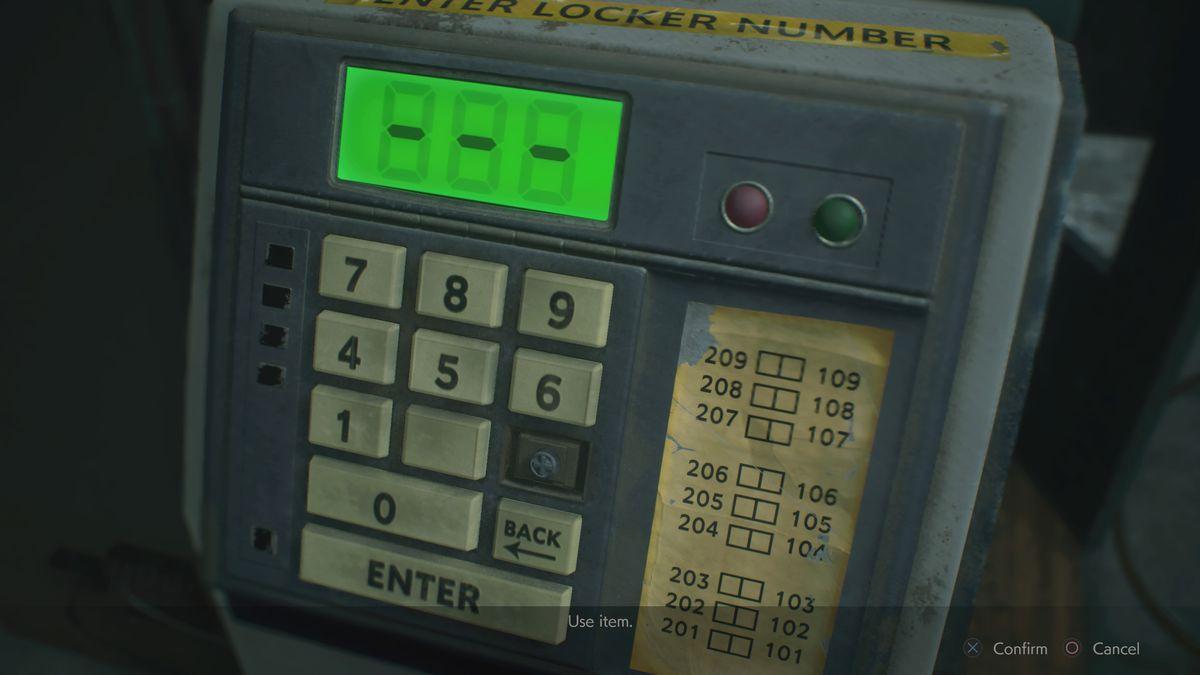 Resident Evil 2 Safety Deposit Room second key