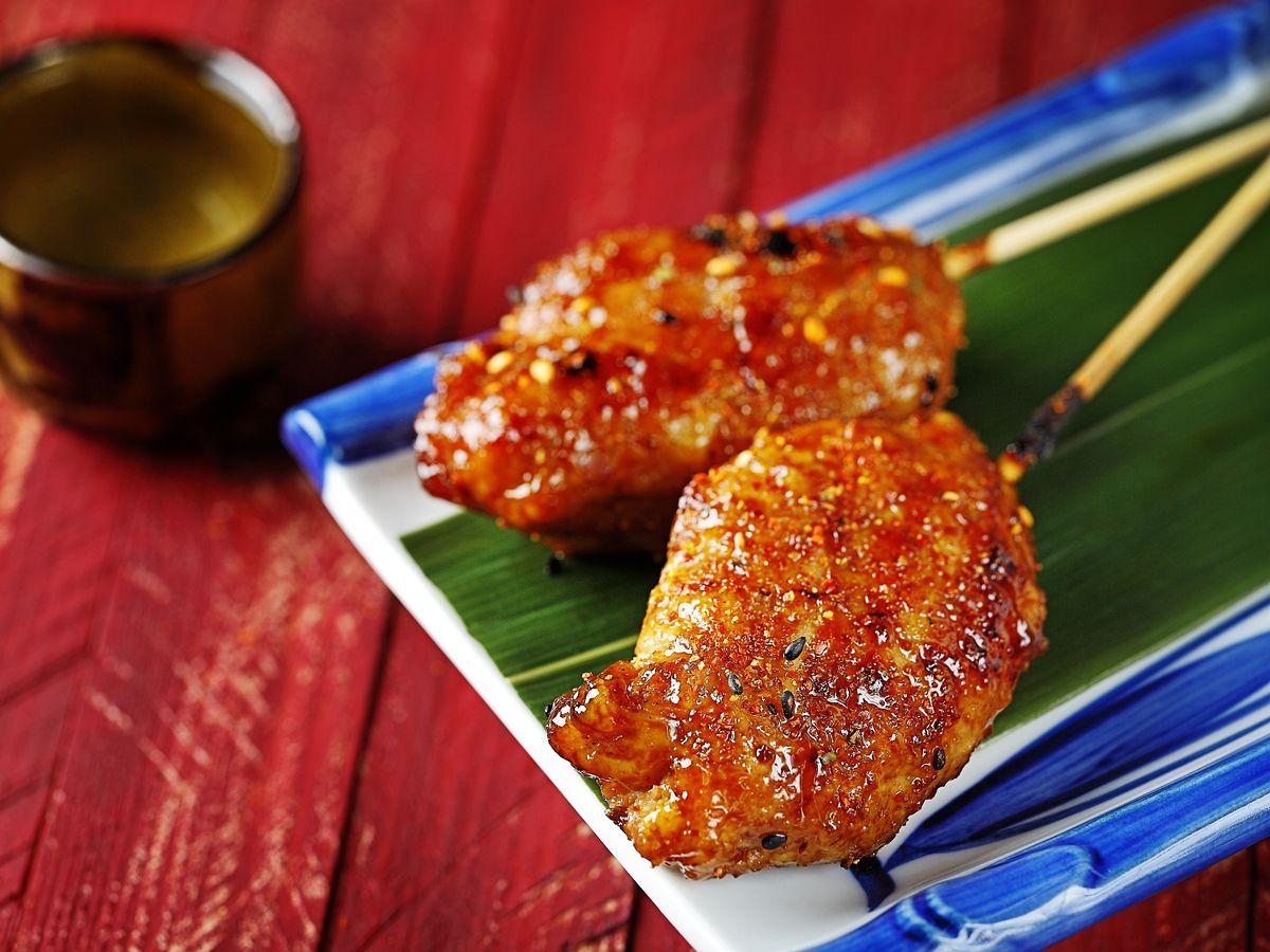 Tsukune (chicken meatballs) from Izakaya Seki