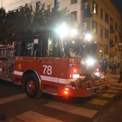6:36 p.m. CFD Engine 78 on a run, heading east at Waveland and Sheffield -