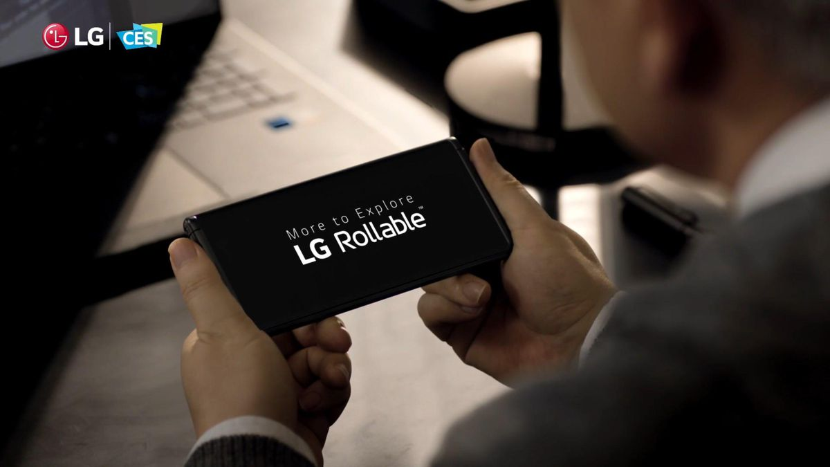LG's Rollable phone.