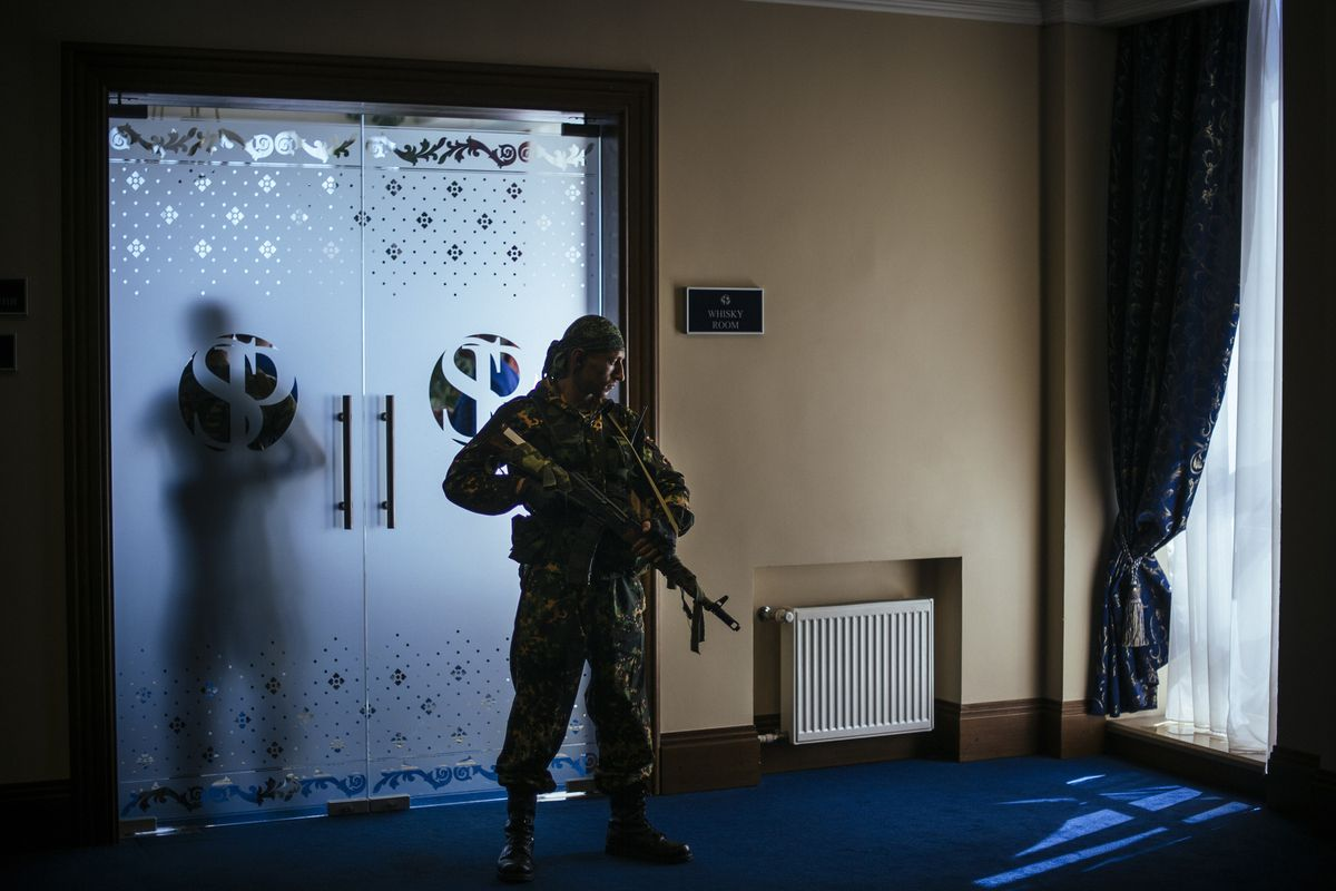 Pro-Russia separatist rebels in Donetsk