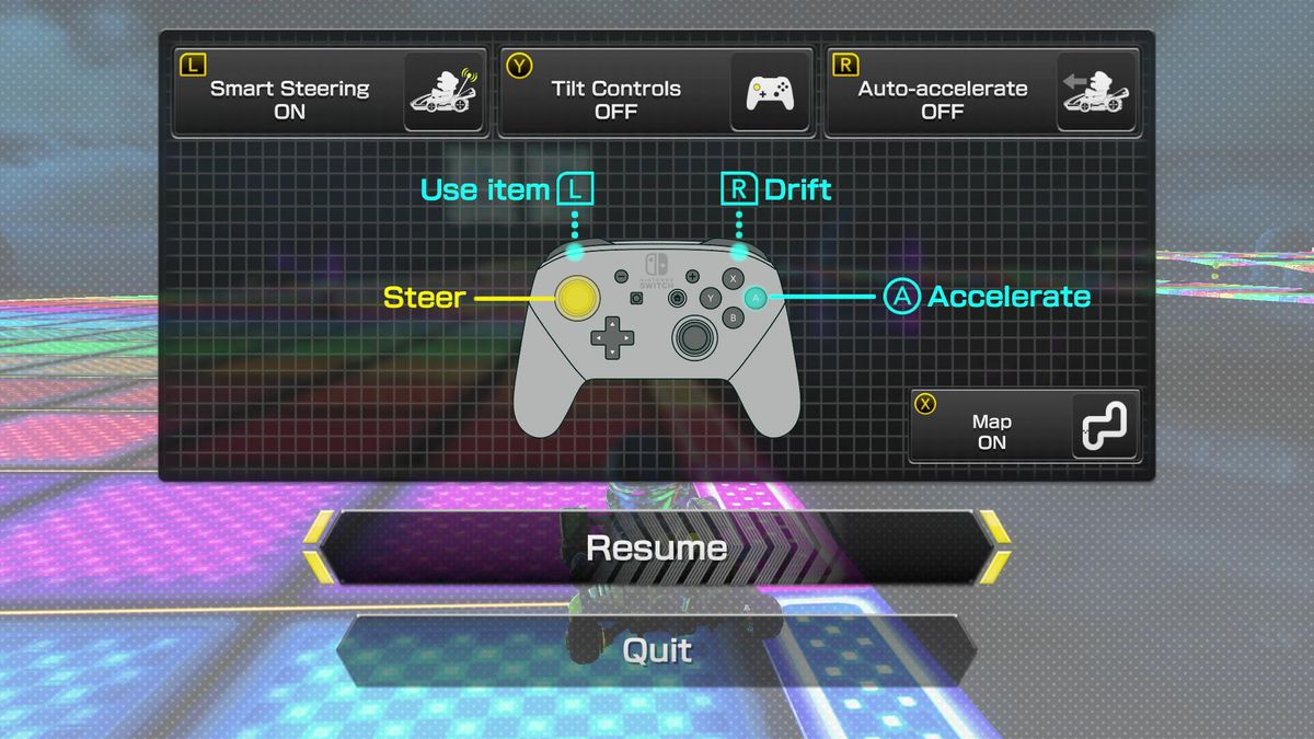 In addition to tilt controls, Mario Kart 8 Deluxe introduces two new  mechanics intended to ease newcomers into the fray: smart steering and auto  ...