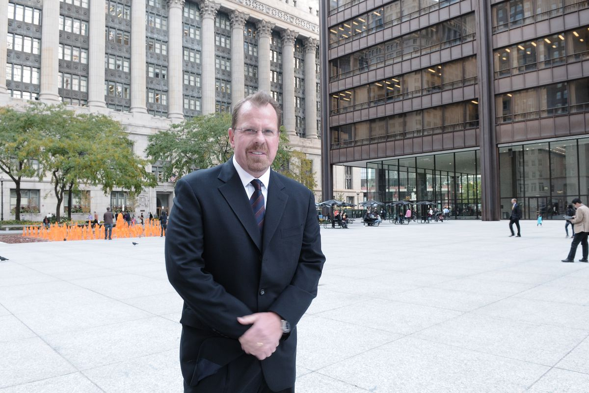 Cook County Inspector General Patrick Blanchard in outside his Loop office in 2012.