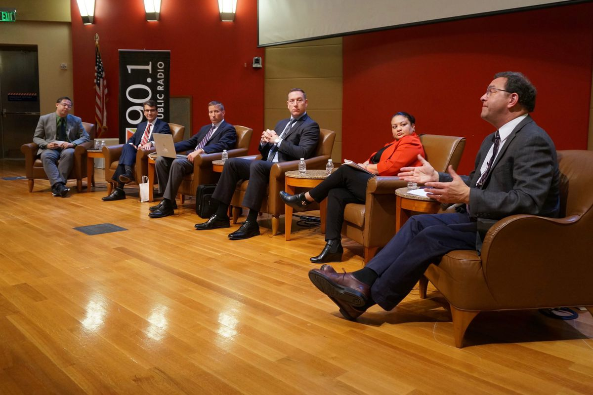 Panelists at the Chalkbeat forum on the IPS tax referendums.
