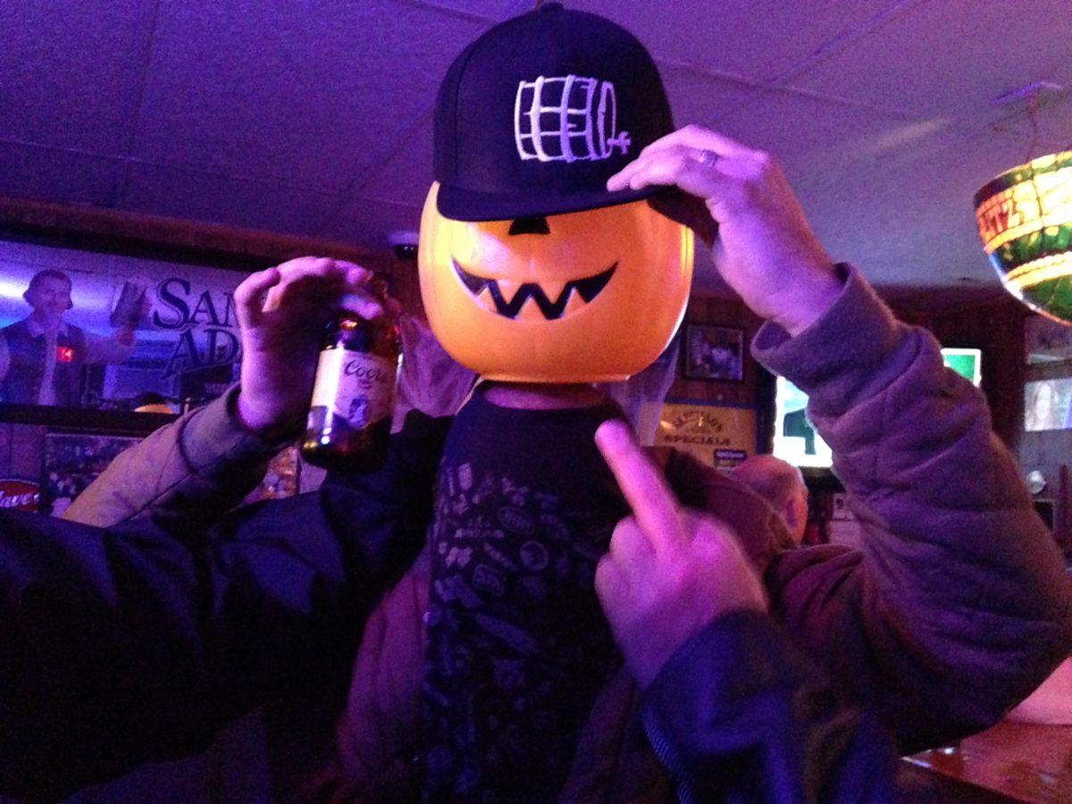 Sangillo's pumpkin head