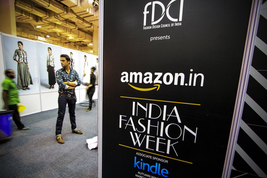 A general View of Amazon India Fashion Week in New Delhi, India, on March 25, 2015.