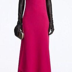 """<a href=""""http://www.dvfsamplesale.com/Ayya%20Dress/D5524224S12,default,pd.html?dwvar_D5524224S12_color=ROSEY"""">Ayya Dress</a>, $230 (was $575)"""