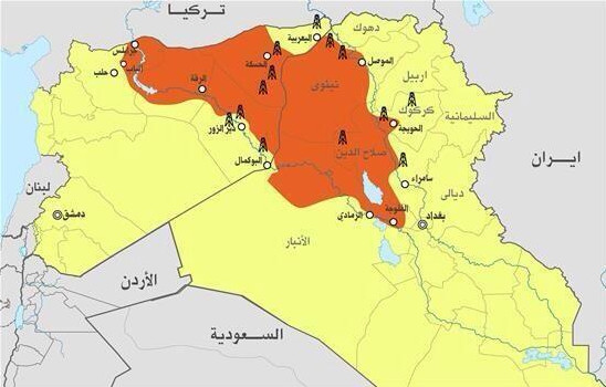 ISIS map oil