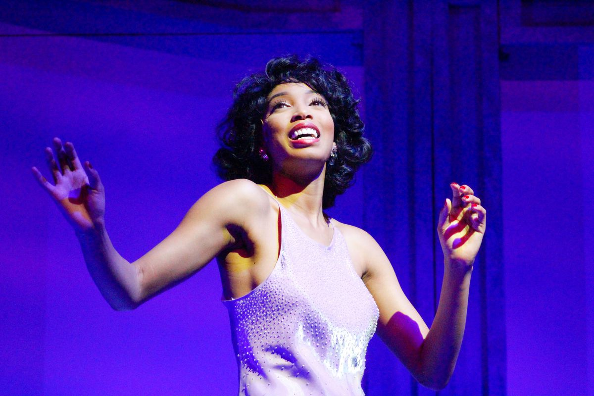 """Aeriel Williams  stars as Young Lena in the Black Ensemble Theater production of """"Style and Grace: In Tribute to Lena Horne and Nancy Wilson."""""""