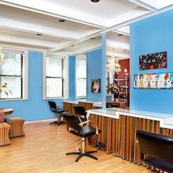 """The beloved <a href=""""http://red7salon.com/"""">Red 7 Salon</a>—festooned with bright walls and cheerful paintings—has locations in Evanston and in Chicago. The fun, upbeat spot has been described as """"the Cheers of the salon world,"""" and staffers work to make"""