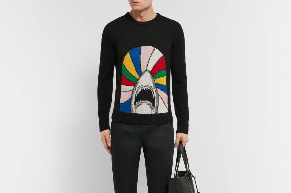 Man wearing Saint Laurent Sweater