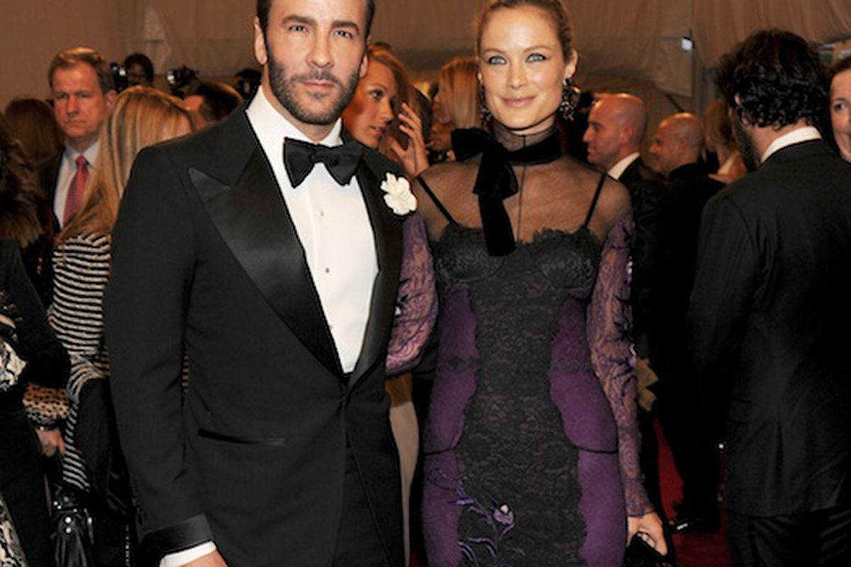 05e81871296b7 Tom Ford with Carolyn Murphy at the Costume Institute Gala (Photo  Getty  Images)