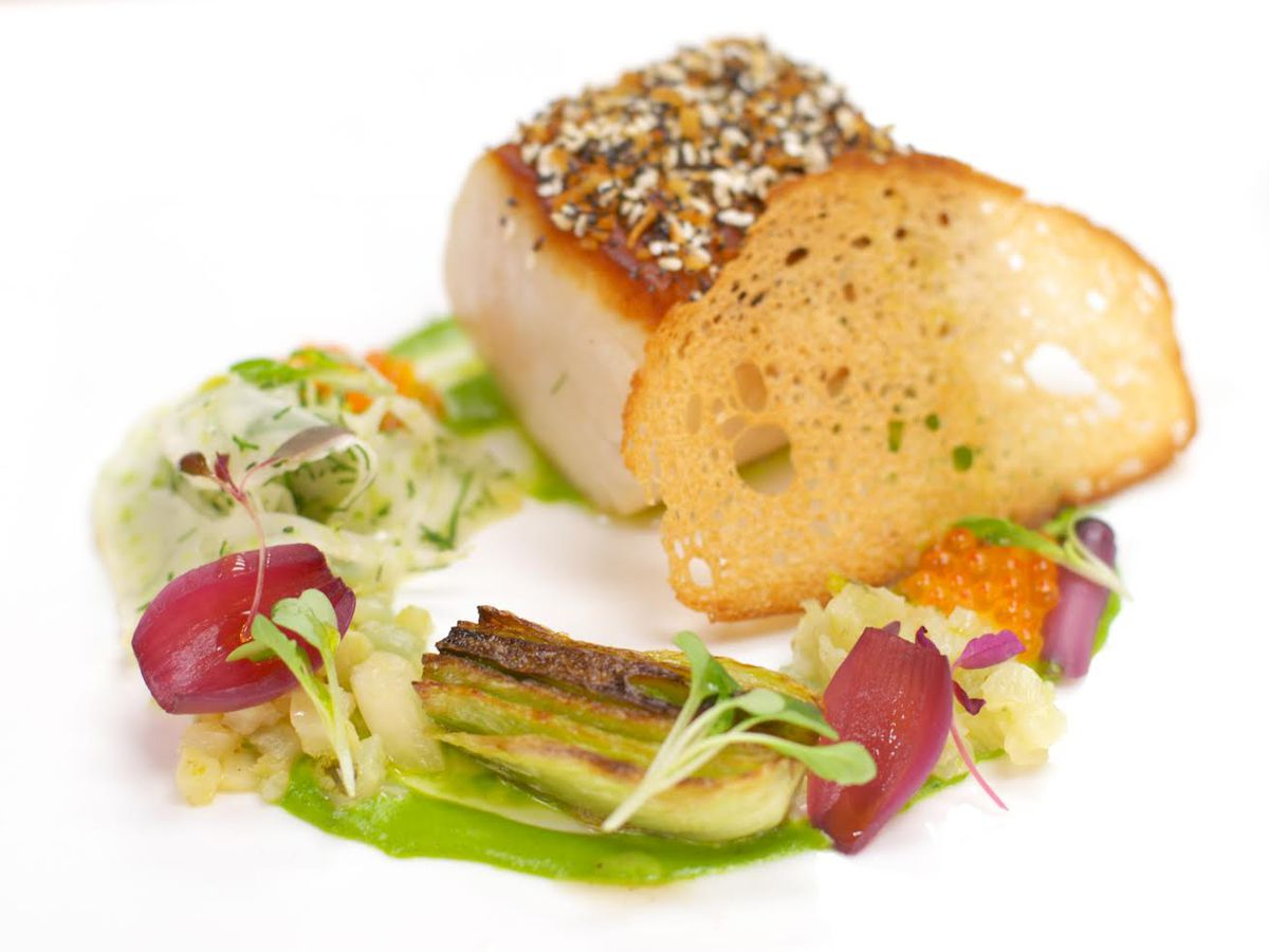 Sablefish with baby fennel at 1789