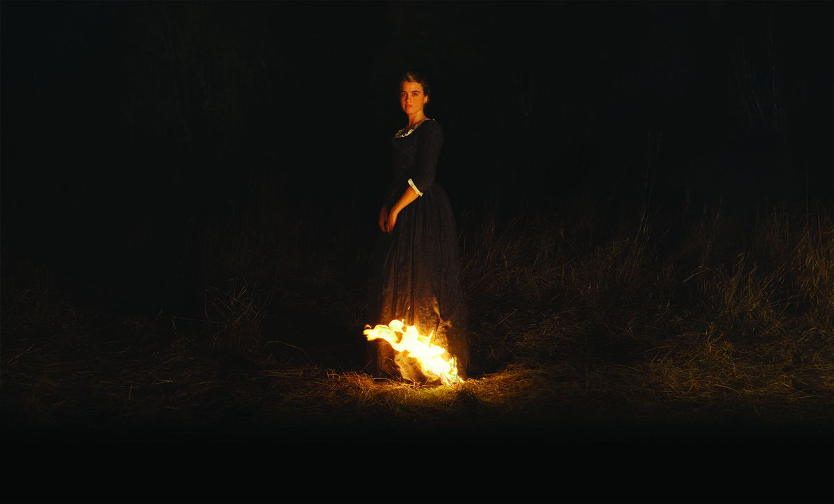Heloise's dress catches on fire in Portrait of a Lady on Fire.