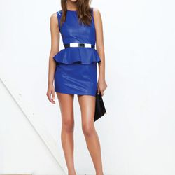 The Luxe dress in a pretty cobalt blue.