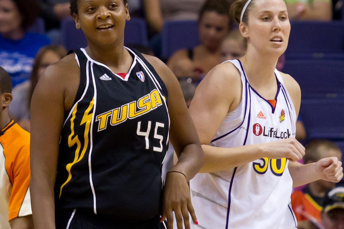 Kara Braxton was traded for Nicole Ohlde. Braxton will now where her new Mercury uniform for several more years. (Photo by Ryan Malone)