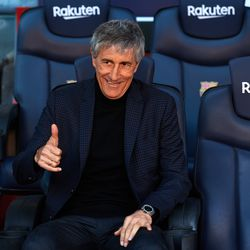 Setien is all smiles as he joins Barcelona