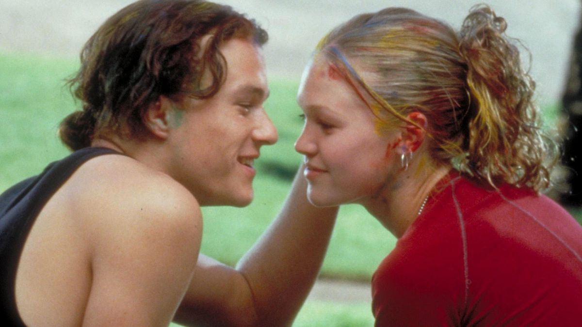 Heath Ledger and Julia Stiles in 10 Things I Hate About You, based on Shakespeare's The Taming of the Shrew