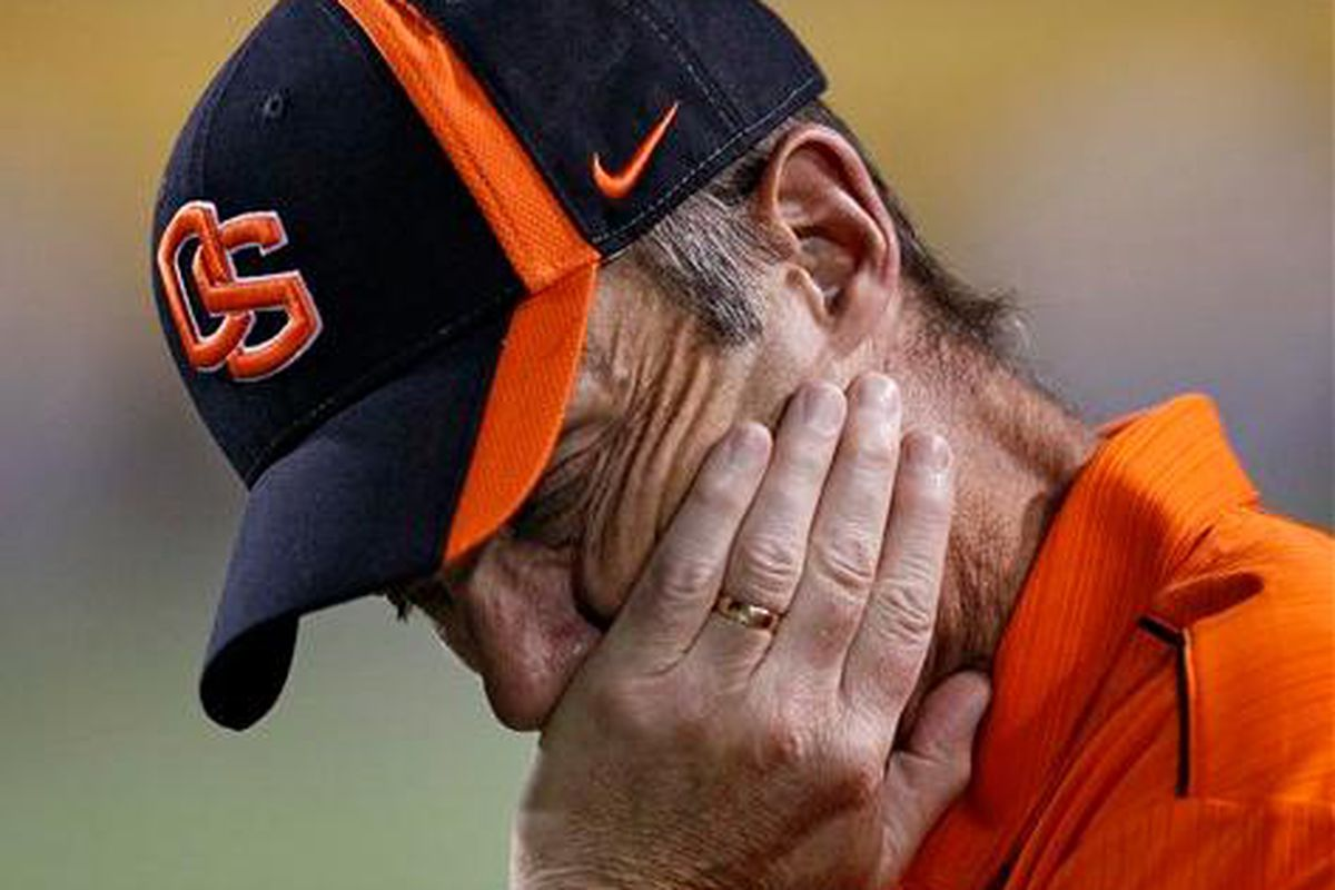"""Oregon St. Mike Riley realizes that recent events are """"Totally Unacceptable."""" Can he get something done about it?"""