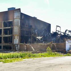 A three-alarm fire broke out about 3:30 a.m. and destroyed the mostly vacant, 3-story Gatelys People's department store at 112th Street and Edbrooke Avenue, June 7, 2019.